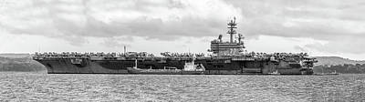 George Bush Wall Art - Photograph - Uss George H.w Bush. by Angela Aird