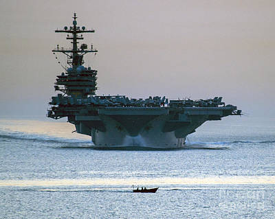 George W. Bush Painting - Uss George H.w. Bush by Celestial Images
