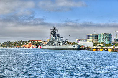 Photograph - Uss Iowa Bb61 Battleship by David Zanzinger