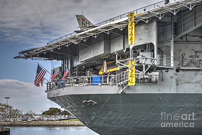 Photograph - Uss Midway Cv41  by David Zanzinger
