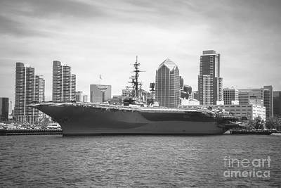 Photograph - Uss Midway Museum Cv 41 Aircraft Carrier by Claudia Ellis