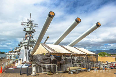 Photograph - Uss Missouri Bb 63 by Benny Marty