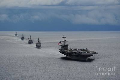 Painting - Uss Theodore Roosevelt  by Celestial Images