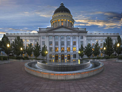 Photograph - Utah State Capitol Building by Utah Images