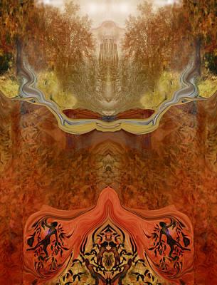 Meditative Digital Art - Utopia by Patricia Motley