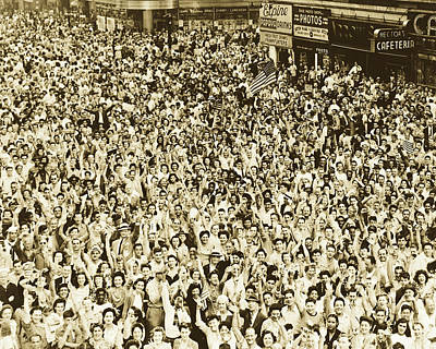 Photograph - V - J Day In Times Square1945 by Library Of Congress