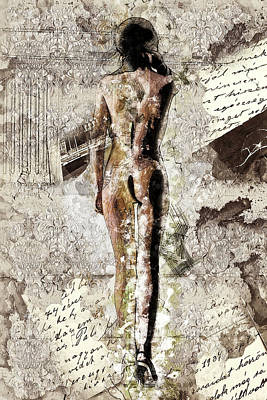 Female Nude Mixed Media - Vacation Postcard by Efes Kitap