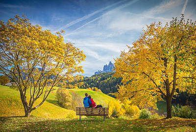 Photograph - Val Di Funes, Italy by Stefano Termanini
