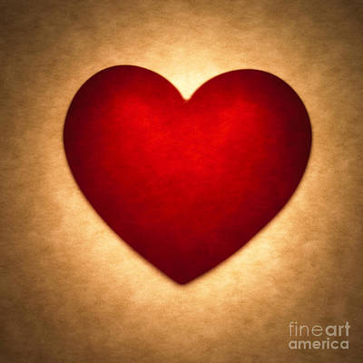 Red Heart Photograph - Valentine Heart by Tony Cordoza