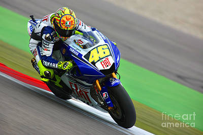 Valentino Rossi Art Print by Henk Meijer Photography