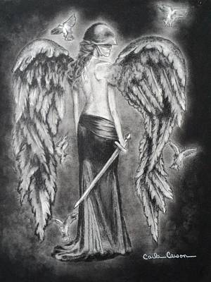Drawing - Valkyrie Angel by Carla Carson