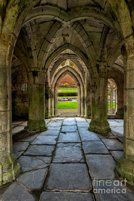 Valle Crucis Abbey  Art Print by Adrian Evans