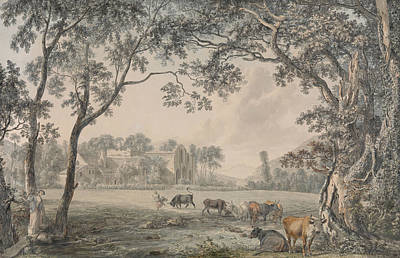 Drawing - Valle Crucis Abbey, Denbighshire by Paul Sandby