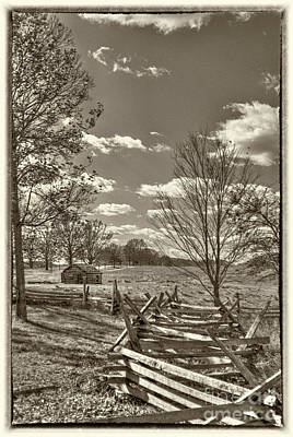 Photograph - Valley Forge Military Camp by David Zanzinger