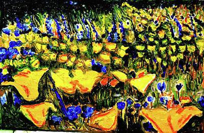 Painting - Valley Of Flowers-2 by Anand Swaroop Manchiraju