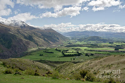 Photograph - Valleys And Meadows Of New Zealand. Springtime. Queenstown Area. by Yurix Sardinelly