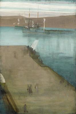 James Abbott Mcneill Whistler Painting - Valparaiso Harbor by James Abbott McNeill Whistler