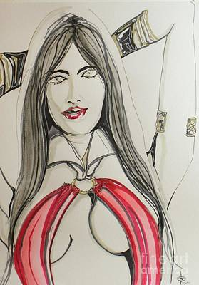 Vampirella Painting - Vampirella by John Sodja