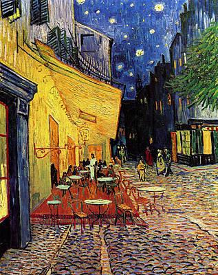 Van Gogh Cafe Terrace Place Du Forum At Night Art Print by Vincent Van Gogh