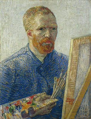 Spiritual Portrait Of Woman Painting - Van Gogh Self Portrait In Front Of Easel by Vincent van Gogh