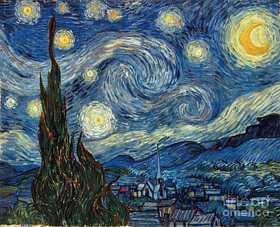 Moon Painting - Van Gogh Starry Night by Granger