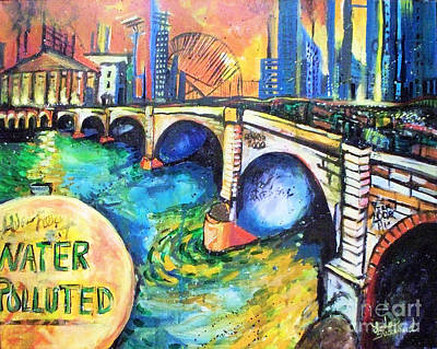 Art Print featuring the painting Van Gogh Today by Linda Shackelford