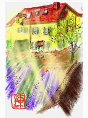 Digital Art - Van Gogh Yellow House by Debbi Saccomanno Chan