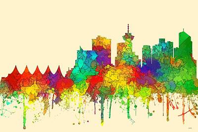 Digital Art - Vancouver B.c. Skyline by Marlene Watson