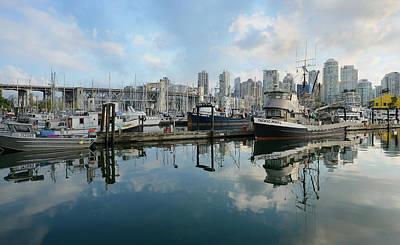 Granville Island Photograph - Vancouver Cityscape by Fraida Gutovich