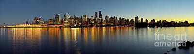 Photograph - Vancouver Downtown Skyline At Dusk by Terry Elniski