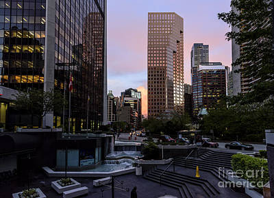 Street Photograph - Vancouver. Evening In The City Center by Viktor Birkus