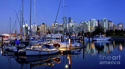 Photograph - Vancouver Evening Skyline  by Terry Elniski