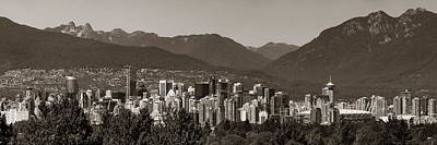 Photograph - Vancouver In Mountains by Songquan Deng
