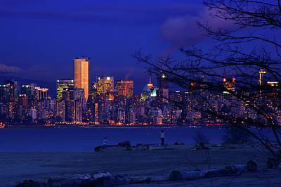 Vancouver Skyline Art Print by Paul Kloschinsky