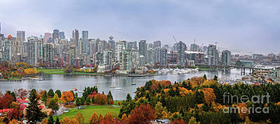Paint Photograph - Vancouver In The Fall - Panorama by Viktor Birkus