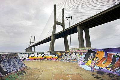Vasco Da Gama Bridge Art Print by Andre Goncalves