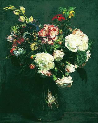 Painting - Vase Of Flowers by Henri Fantin Latour
