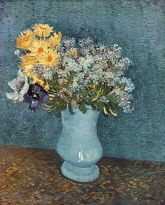 Cosmos Flowers Painting - Vase Of Flowers by Vincent Van Gogh