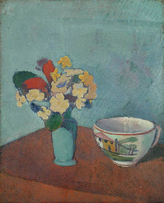 Cup Painting - Vase With Flowers And Cup by Emile Bernard