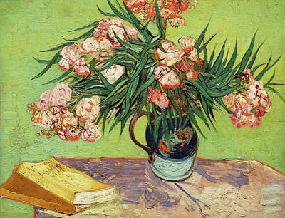 Painting - Vase With Oleanders And Books by Vincent van Gogh