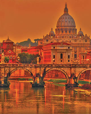 Photograph - Vatican At Dusk by Don Wolf