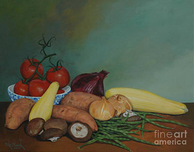 Painting - Veggie Still Life No.2 by Michael Nowak