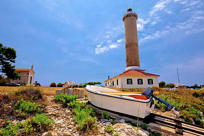 Photograph - Veli Rat Lighthouse And Boat Extraction Tracks by Brch Photography