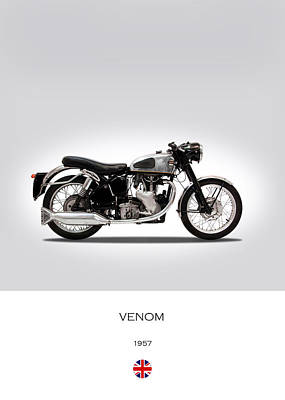 Venom Photograph - Velocette Venom 1957 by Mark Rogan