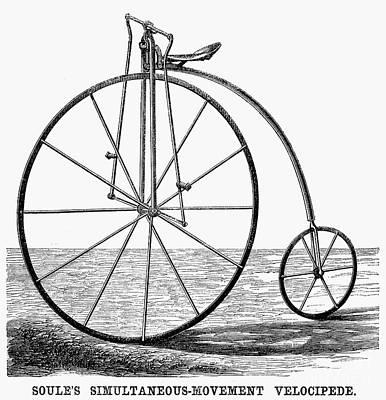 Velocipede, 1869 Art Print by Granger