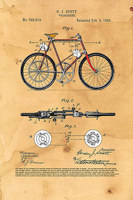 Velocipede - Dynamo Assisted Art Print by Ray Walsh