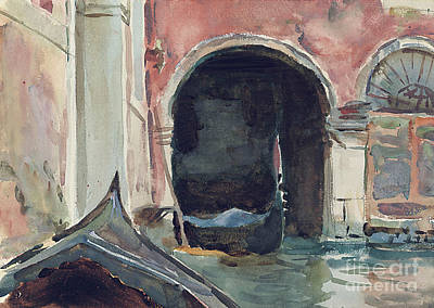 Sailing Drawing - Venetian Canal by John Singer Sargent
