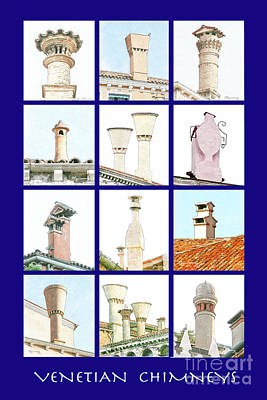 Digital Art - Venetian Chimneys by Mariarosa Rockefeller