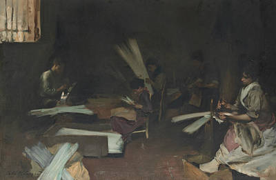 Worker Painting - Venetian Glass Workers  by John Singer Sargent