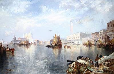 S Palace Painting - Venetian Grand Canal by Thomas Moran